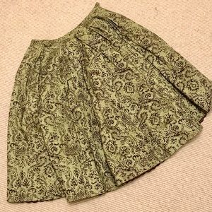 Anthropologie Odille Olive Green A-Line Skirt sz2